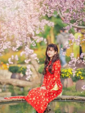 Xuân Ất Mùi 2015: Hot girl Kiến Trúc khoe sắc bên vườn đào  - Ảnh 10