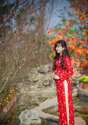 Xuân Ất Mùi 2015: Hot girl Kiến Trúc khoe sắc bên vườn đào  - Ảnh 4