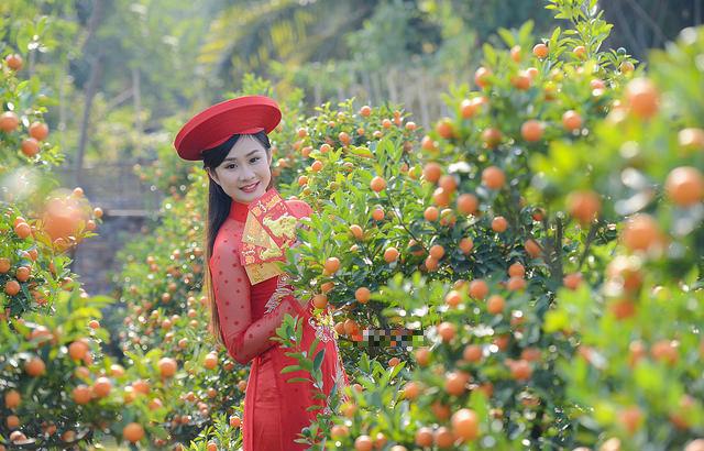 Mê mẩn với nhan sắc xinh đẹp của nữ sinh Kinh tế bên vườn quất  - Ảnh 6