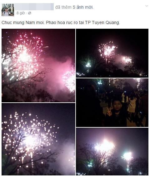Dân mạng chia sẻ hình ảnh pháo hoa đẹp mắt đêm giao thừa - Ảnh 8
