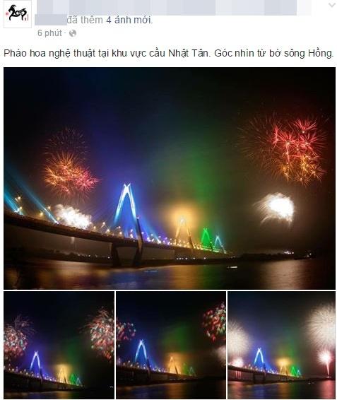 Dân mạng chia sẻ hình ảnh pháo hoa đẹp mắt đêm giao thừa - Ảnh 3