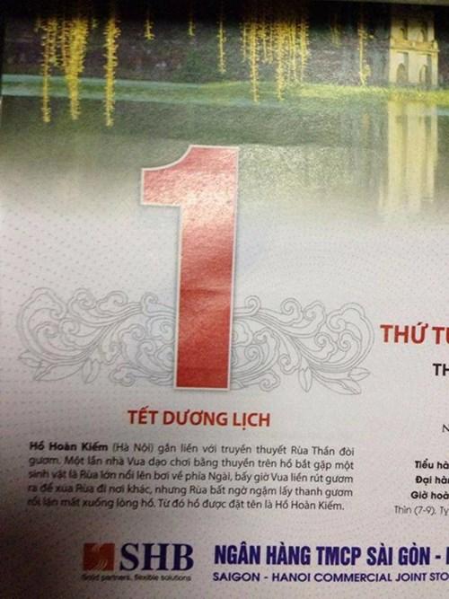 Dân mạng dậy sóng vì sự tích Hồ Gươm bị in sai trên lịch Tết - Ảnh 3