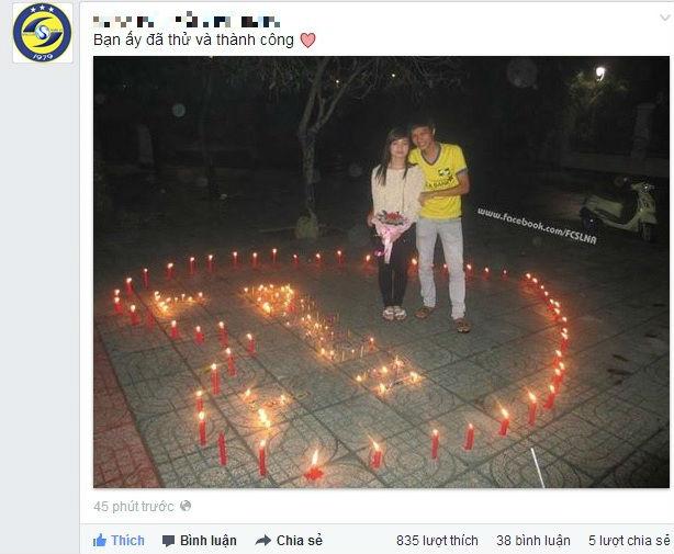 """Chàng trai xứ Nghệ với màn tỏ tình """"hoành tráng"""" ngày Valentine - Ảnh 1"""