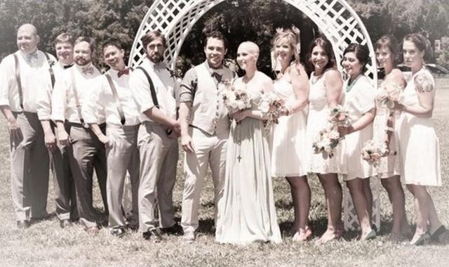 Nghẹn ngào đám cưới đẫm nước mắt của những cô dâu ung thư - Ảnh 4