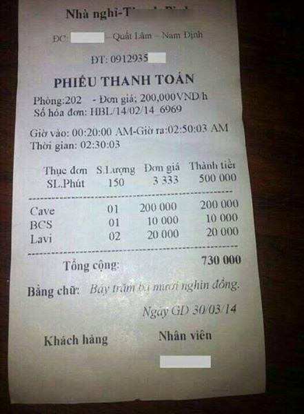 Bàng hoàng với những hóa đơn gây sốc ở Việt Nam - Ảnh 3