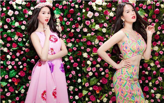 Cùng nàng công sở xúng xính váy hoa chào thu 2014 - Ảnh 1
