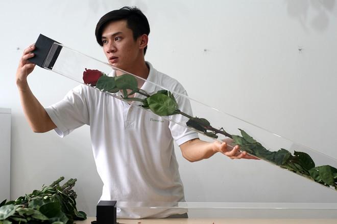 Hoa hồng dài 1,6 m giá 700.000 đồng hút khách Sài Gòn - Ảnh 1