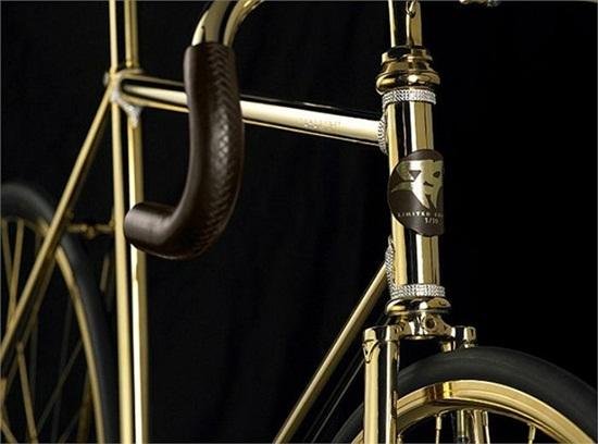 Chiếc xe đạp dát vàng, nạm 600 viên pha lê giá... 2 tỷ đồng - Ảnh 6