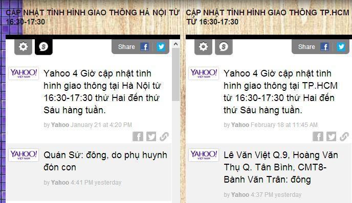 Yahoo cung cấp dịch vụ cảnh báo tắc đường tại Sài Gòn, Hà Nội - Ảnh 1