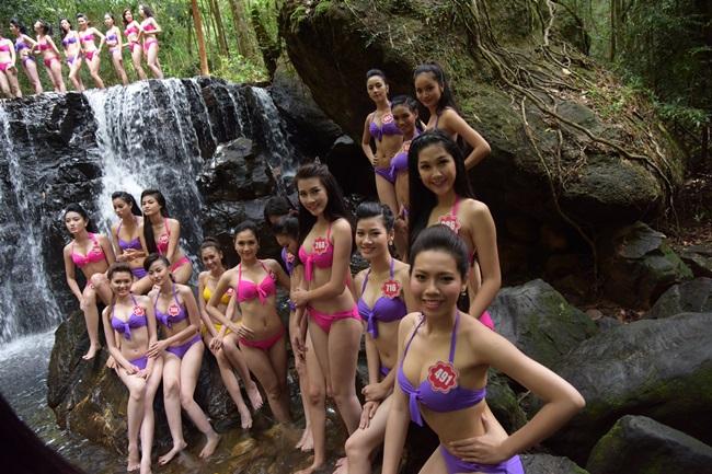 Hoa hậu Việt Nam 2014: 38 thí sinh diện bikini bảo vệ môi trường - Ảnh 6