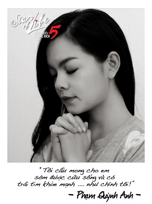 Hàng loạt nghệ sĩ cùng chụp ảnh cầu nguyện làm từ thiện - Ảnh 5