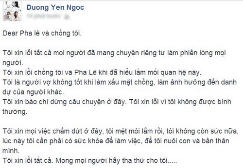 Dương Yến Ngọc bất ngờ xin lỗi Pha Lê và chồng sau scandal - Ảnh 1