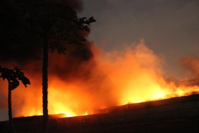 Cháy lớn khu xử lý chất thải rắn Gò Cát nằm trên QL1A - Ảnh 7