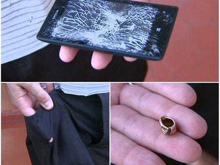 Điện thoại Lumia 520 đỡ đạn cứu chủ nhân trong vụ cướp - Ảnh 1