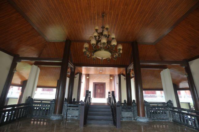 Chiêm ngưỡng nhà khách 5 sao toàn gỗ quý ở chùa Bái Đính - Ảnh 4