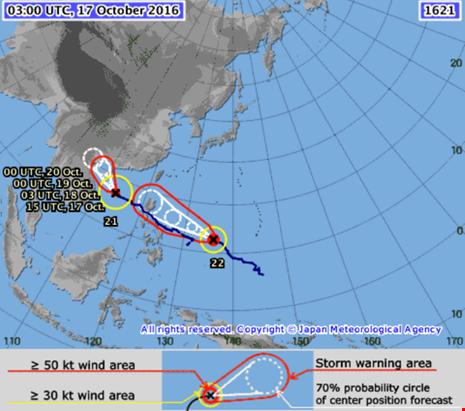 Hai siêu bão cực mạnh đang cùng nhau tiến vào biển Đông - Ảnh 1