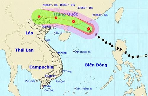 Cơn bão số 7 từ biển Đông mạnh cấp 9 đang đi vào đất liền - Ảnh 1