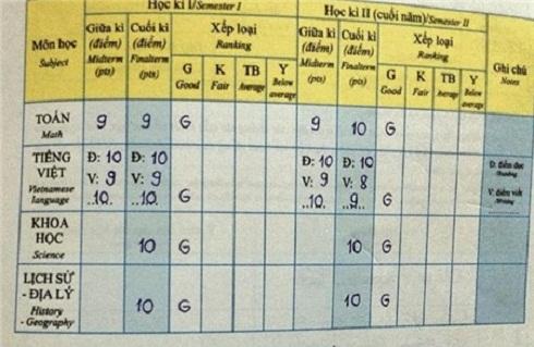 Lộ bảng điểm học tập toàn 9, 10 của Phương Mỹ Chi - Ảnh 2