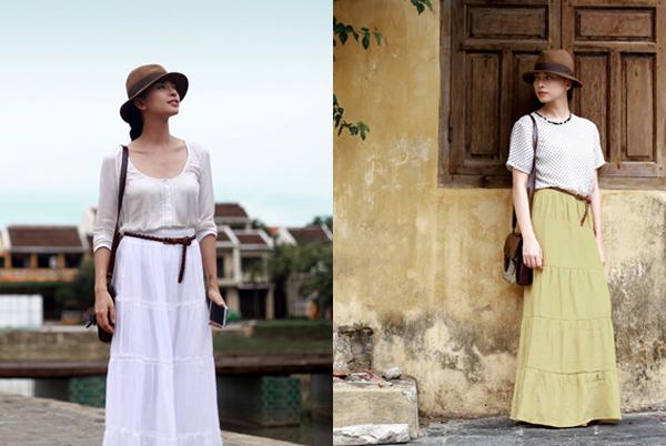 Sao Việt thướt tha, dịu dàng với váy maxi  - Ảnh 4
