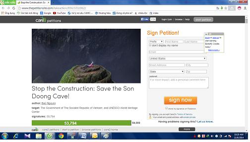 Gần 54.000 chữ ký phản đối dự án cáp treo hang Sơn Đoòng - Ảnh 2