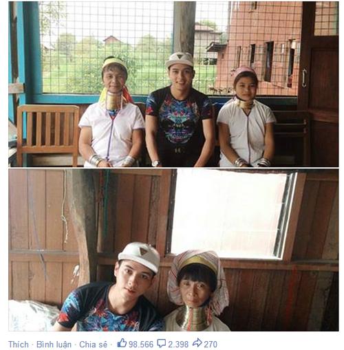 """Hồ Quang Hiếu chụp ảnh cùng """"người cổ dài"""" gây sốt - Ảnh 2"""