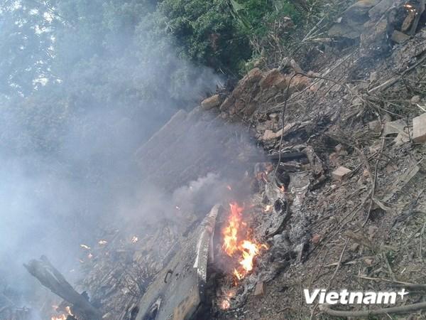 Hình ảnh vụ máy bay rơi ở Hòa Lạc, 17 chiến sỹ hy sinh - Ảnh 8