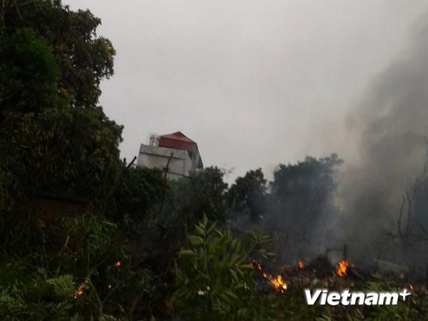 Hình ảnh vụ máy bay rơi ở Hòa Lạc, 17 chiến sỹ hy sinh - Ảnh 9