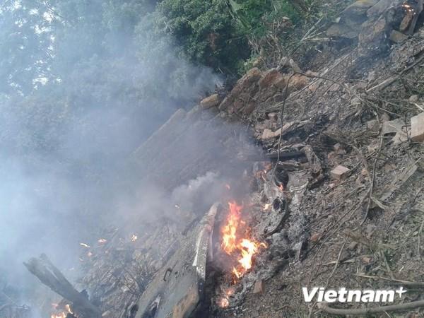 Hình ảnh vụ máy bay rơi ở Hòa Lạc, 17 chiến sỹ hy sinh - Ảnh 6