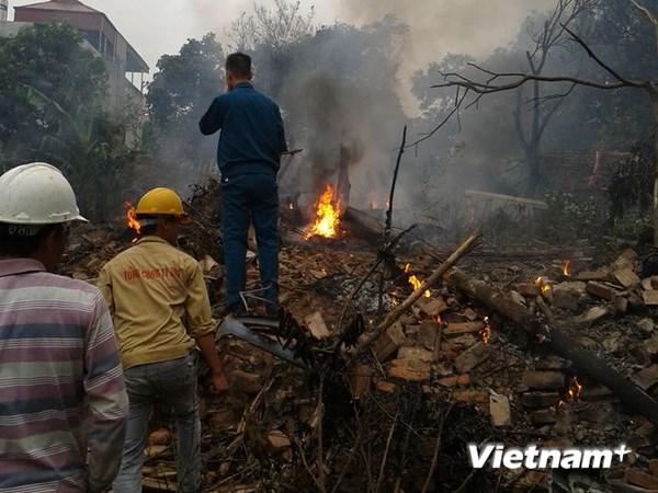 Hình ảnh vụ máy bay rơi ở Hòa Lạc, 17 chiến sỹ hy sinh - Ảnh 7