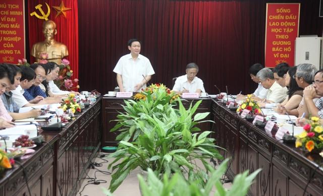 Trưởng Ban Kinh tế TƯ làm việc với Ngân hàng Phát triển VN - Ảnh 1