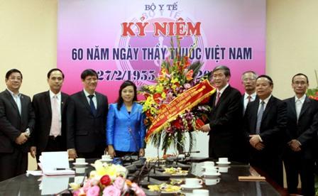 Ông Đinh Thế Huynh chúc mừng Bộ Y tế ngày Thầy thuốc Việt Nam - Ảnh 1