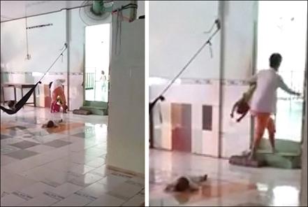 Phẫn nộ bảo mẫu đánh dã man trẻ mồ côi 2 tuổi - Ảnh 1
