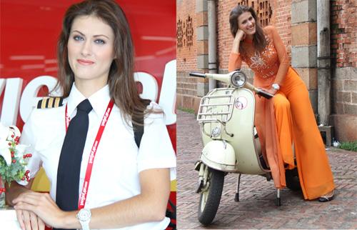 Ngắm nữ phi công xinh đẹp như người mẫu - Ảnh 5