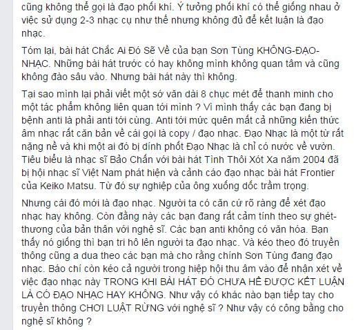 """Nhạc sĩ Việt tranh cãi vì """"Chắc ai đó sẽ về"""" của Sơn Tùng M -TP - Ảnh 3"""
