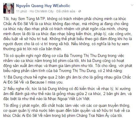 """Nhạc sĩ Việt tranh cãi vì """"Chắc ai đó sẽ về"""" của Sơn Tùng M -TP - Ảnh 5"""
