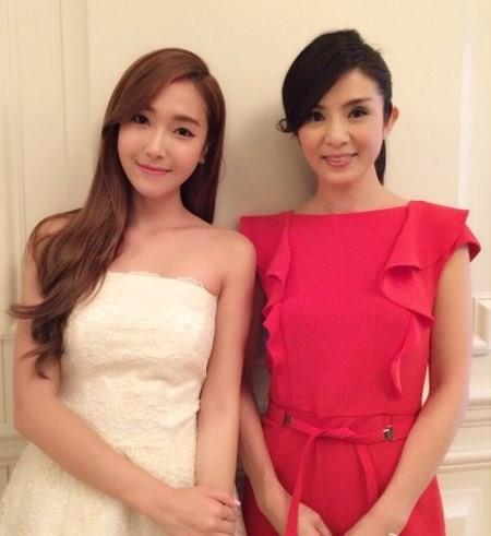 Jessica khoe ảnh cùng ngôi sao bóng rổ Yao Ming - Ảnh 3
