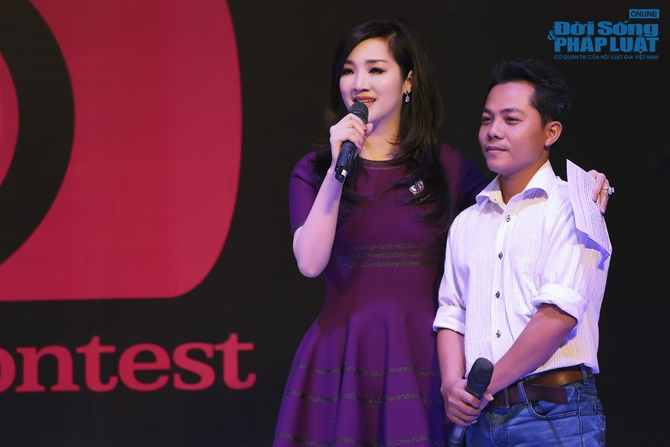 Hoa hậu Giáng My trẻ trung xinh đẹp đi làm MC - Ảnh 10