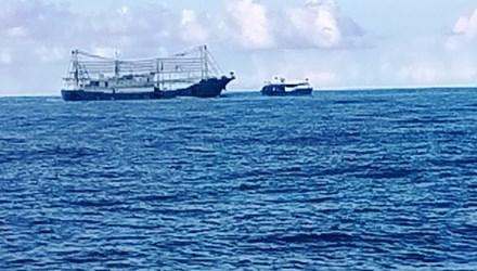 Tàu Trung Quốc gắn lê phá băng đâm tàu Việt Nam - Ảnh 1