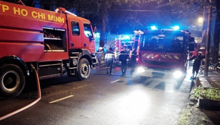 Cháy Tổng lãnh sự quán Indonesia tại TP.HCM trong đêm - Ảnh 1