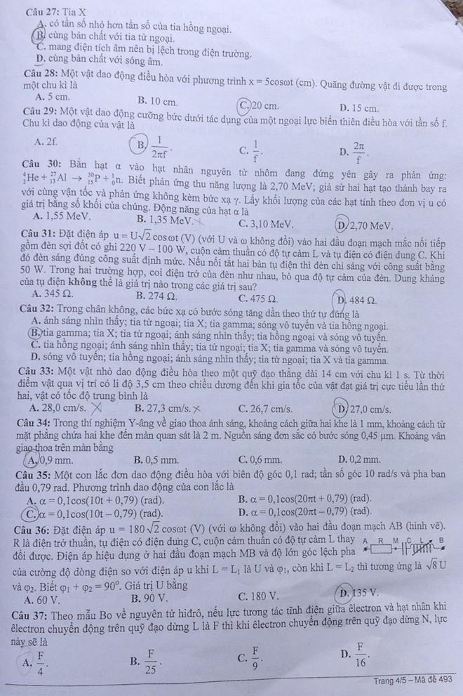 Đề thi đại học môn Vật Lý khối A và A1 năm 2014  - Ảnh 4