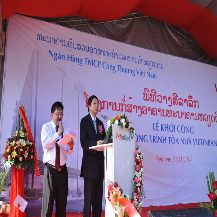 Khởi công xây dựng tòa nhà Vietinbank tại Lào - Ảnh 1