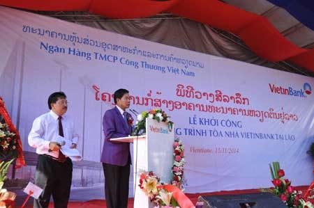 Khởi công xây dựng tòa nhà Vietinbank tại Lào - Ảnh 2