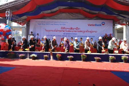Khởi công xây dựng tòa nhà Vietinbank tại Lào - Ảnh 3