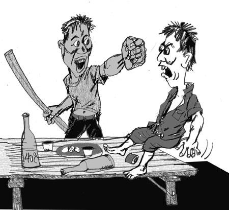 Vào thăm con gái, đâm chết thông gia trên bàn nhậu - Ảnh 1