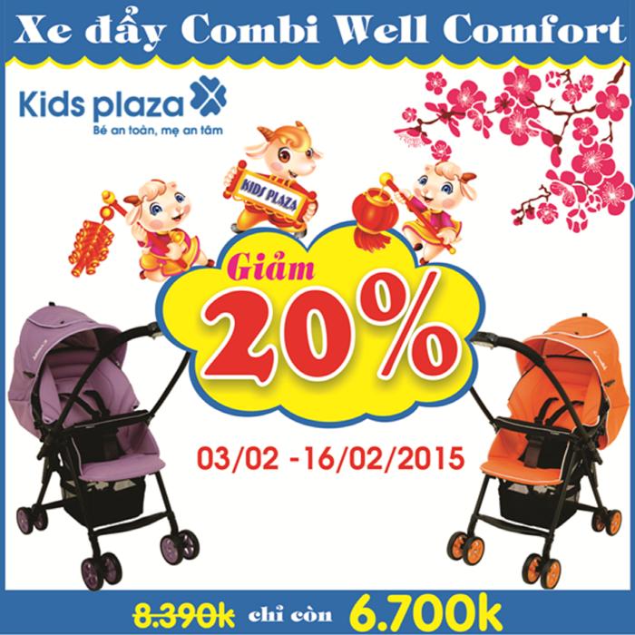 Lì xì lớn khi mua xe đẩy Combi Well Comfort tại Kids Plaza - Ảnh 1