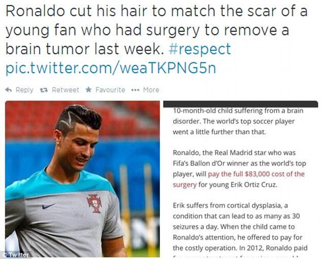 Bí mật đằng sau kiểu tóc mới của Cristiano Ronaldo - Ảnh 2