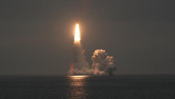 Hải quân Nga bắn thử thành công tên lửa liên lục địa Bulava mới - Ảnh 1