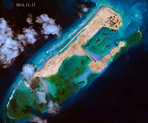 """Trung Quốc đắp đảo ở Trường Sa """"làm căn cứ radar"""" - Ảnh 1"""