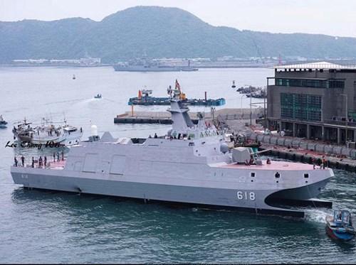 """Đài Loan hạ thủy tàu tên lửa """"nhanh nhất và mạnh nhất"""" châu Á - Ảnh 1"""