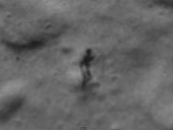 Bề mặt Mặt Trăng xuất hiện hình thù kỳ lạ trông giống con người   - Ảnh 1